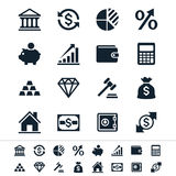 Financial investment icons. Simple  icons. Clear and sharp. Easy to resize. No transparency effect. EPS10 file Stock Photo