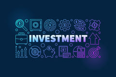 Financial investment illustration Stock Image