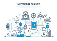 Financial investments, banking, security of guaranteed payments, transactions and deposits. Financial investments, marketing, online banking, security of Royalty Free Stock Photo