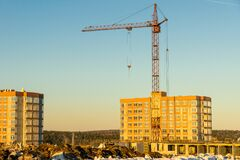 Free Financial Investments In The Construction Of Residential Buildings In A Promising Developing Area Of The City Royalty Free Stock Image - 176195146