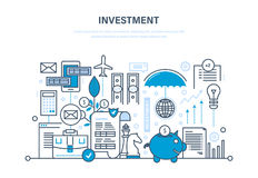 Financial investments, marketing, analysis, security of deposits, security financial savings. Financial investments, marketing, analysis, security of deposits Royalty Free Stock Photo