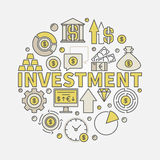 Financial investments round illustration Stock Image