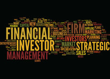 Financial Investor Strategic Investor Text Background  Word Cloud Concept. FINANCIAL INVESTOR STRATEGIC INVESTOR Text Background Word Cloud Concept Royalty Free Stock Photo