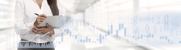 Business stock market background stock image