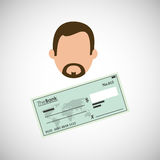 Financial item design. businessman icon. Flat illustration, vect Stock Photography