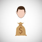 Financial item design. businessman icon. Flat illustration, vect Stock Photos