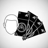 Financial item design. businessman icon. Flat illustration, vect Royalty Free Stock Image