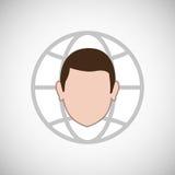 Financial item design. businessman icon. Flat illustration, vect Stock Photos
