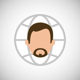 Financial item design. businessman icon. Flat illustration, vect Royalty Free Stock Images