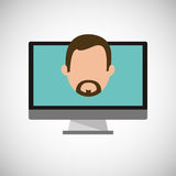 Financial item design. businessman icon. Flat illustration, vect Stock Images