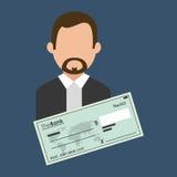 Financial item design. businessman icon. Flat illustration, vect Stock Image