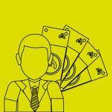 Financial item design. businessman icon. Flat illustration, vect Royalty Free Stock Photos