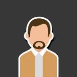 Financial item design. businessman icon. Flat illustration, vect Royalty Free Stock Photo