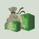 Financial item design. money icon. flat illustration Stock Photography