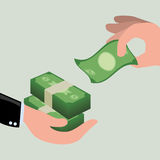 Financial item design. money icon. flat illustration Royalty Free Stock Photography