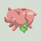 Financial item design. money icon. flat illustration Royalty Free Stock Photo