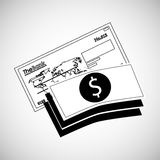 Financial item design. money icon. Flat illustration,  gra Stock Photos