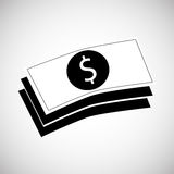 Financial item design. money icon. Flat illustration,  gra Stock Image