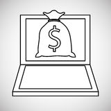 Financial item design. money icon. Flat illustration,  gra Royalty Free Stock Images