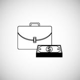 Financial item design. money icon. Flat illustration,  graphic Royalty Free Stock Photo