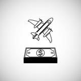 Financial item design. money icon. Flat illustration,  graphic Stock Images
