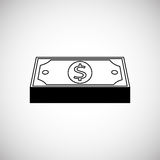 Financial item design. money icon. Flat illustration,  graphic Stock Image