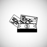 Financial item design. money icon. Flat illustration,  graphic Stock Photo