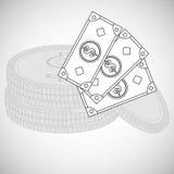 Financial item design. money icon. Flat illustration,  graphic Royalty Free Stock Photos