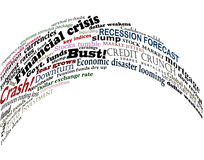 Financial jumble. Vector design of headlines about economic problems Royalty Free Stock Photography
