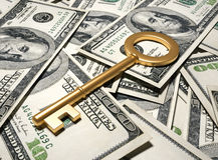 Financial key Royalty Free Stock Image