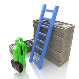 Financial ladder. Financial stairs at registration information related to business and economy Stock Photo