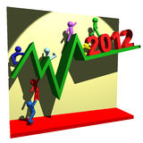 Financial line of 2012 Stock Photo