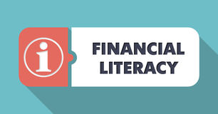 Financial Literacy Concept in Flat Design. Stock Photo