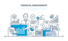 Financial management, analysis, market research, deposits,  contributions and savings. Royalty Free Stock Photography