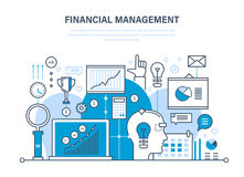 Financial management, analysis, market research, deposits, contributions, savings, statistics, accounting. Financial management, analysis and market research Royalty Free Stock Image