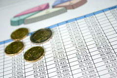 Financial Management Chart 11 stock image