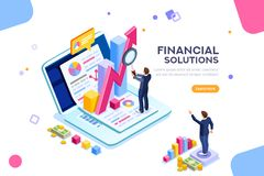 Financial Management engineering Concept Vector. Finance and engineering graph of economics. Statistic and sales manager for financial management concept royalty free illustration