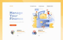 Financial Management Web Page stock illustration