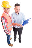 Financial manager and contractor Royalty Free Stock Photos