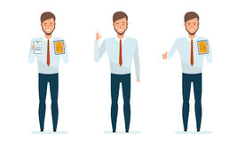 Financial manager getting awards, certificates, diplomas for success in work. Royalty Free Stock Images