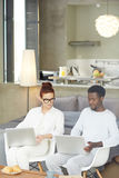 Financial Managers Working from Home Stock Photography