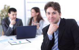 Financial managers in the workplace Royalty Free Stock Image