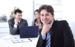 Financial managers in the workplace Stock Images
