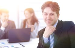 Financial managers in the workplace Royalty Free Stock Photo