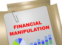 Financial Manipulation concept. 3D illustration of FINANCIAL MANIPULATION title on business document Royalty Free Stock Image