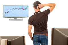 Financial market analysis. Royalty Free Stock Photos