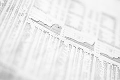 Financial market analysis Royalty Free Stock Images