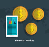 Financial market graphic Royalty Free Stock Images