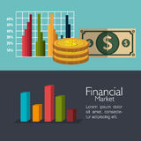 Financial market graphic Stock Images