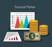 Financial market graphic Stock Image